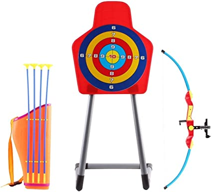 Amazon Com Deao Bow Archery Set With Arrow Holder With Target Stand Outdoor Garden Fun Game Toys Games Check out our stand arrow selection for the very best in unique or custom, handmade pieces from well you're in luck, because here they come. amazon com