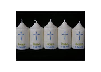 BaptismChristeningCommunion Candle Fish Small Gastgeschenkkerze Tischkerze G\u00e4stekerze Taufkerze Kleine Kerze