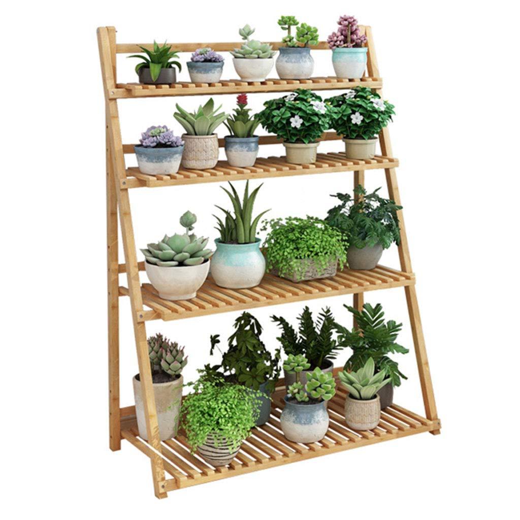 木製 フラワーラック 植物スタンド 盆栽ディスプレイ 折りたたみ式 多機能 本棚 収納ラック リビングルーム バルコニー 屋内 B07RB5B8RD  70cm×47cm×122cm