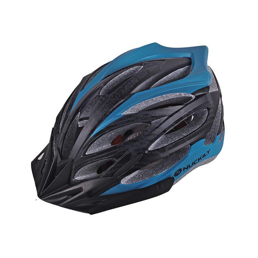 GLEI-TK Erwachsene Bike Helmet 22 Vents Impact Resistant, Light Weight, Adjustable Fit EPS, PC Sports Road Cycling Recreational Cycling Cycling Bike,Blau