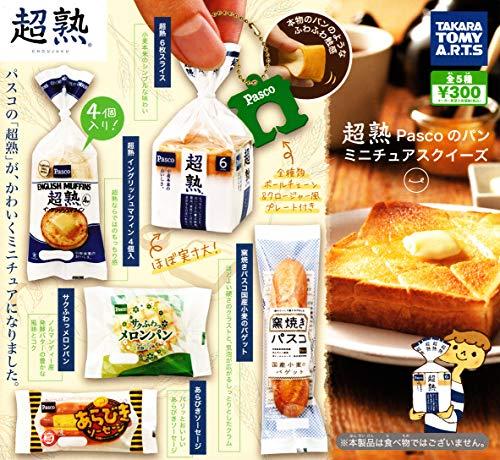 슈퍼 중년 Pasco 빵 미니어처 스퀴즈 (재판매) [전 5 종 세트 (풀 무료 초대권)