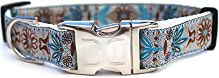 product image for Boho Custom Engraved Dog Collar by Diva Dog (Optional Matching Leash Available) Standard and Extra Wide in Morocco Teacup
