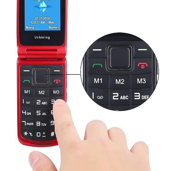 Teléfono Móvil con Tapa para Personas Mayores, Teclas Grandes, gsm Dual SIM, SOS Botones, Facil Uso Gran Pantalla 2.4