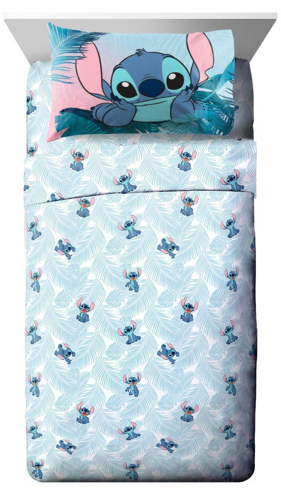 Jay Franco Disney Lilo & Stitch Floral Fun 7 Piece Full Bed Set - Includes Reversible Comforter & Sheet Set Bedding - Super Soft Fade Resistant Microfiber - (Official Disney Product) by Jay Franco (Image #5)