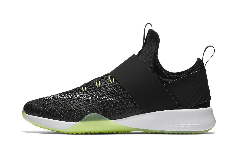 NIKE Women's Air Zoom Strong Running Shoes B003MUD1YM 7.5 B(M) US|Black / White-dark Grey-volt