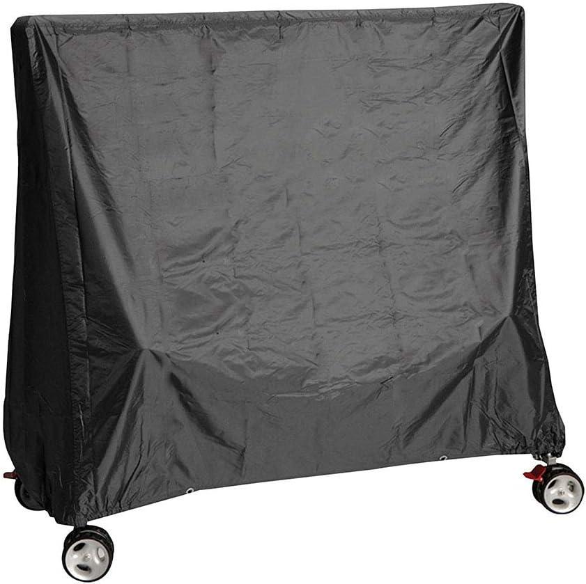 LDIW Funda Mesa Ping Pong, 190T Poliéster Funda Protectora para Mesa de Tabla de Tenis Impermeable Resistente al Polvo Anti-UV Protección,Negro,155x75x150cm