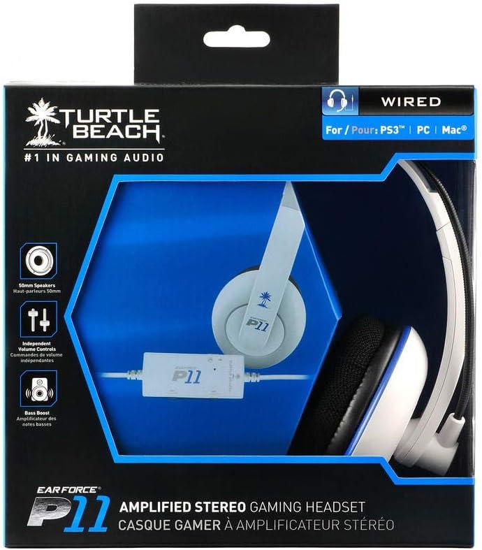 Turtle Beach Ear Force P11 - Auriculares (Alámbrico, 3,5 mm, 3.7 m, 20 - 20000 Hz, 120 Db, 50 mm): Amazon.es: Videojuegos