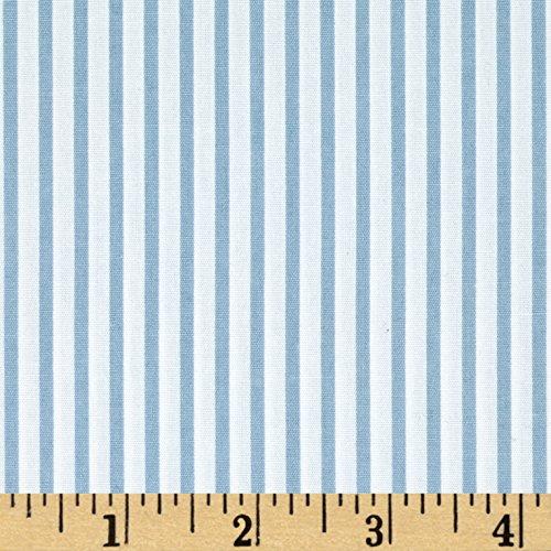 (Robert Kaufman Sevenberry Petite Basics Mini Stripe Fabric by The Yard Blue)