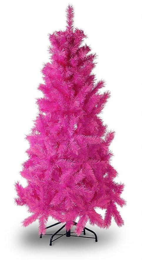 Albero Di Natale Rosa.Albero Di Natale Colorato Colore Rosa Alto 160 Cm Amazon It Casa E