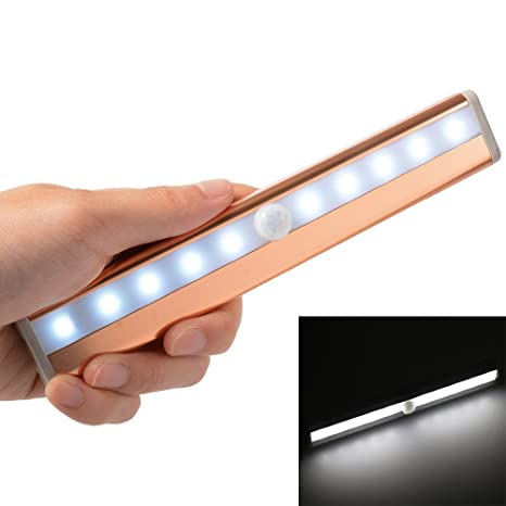 Automatic Wireless 10 LED Human body infrared Motion Sensor Closet Light Stick-on Anywhere Portable