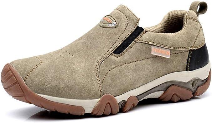LHY HIKING Zapatillas de Deporte para Hombres, Botas de Senderismo sin Cordones Calzado de Trekking para Escalada Transpirable Calzado Casual Calzado ...