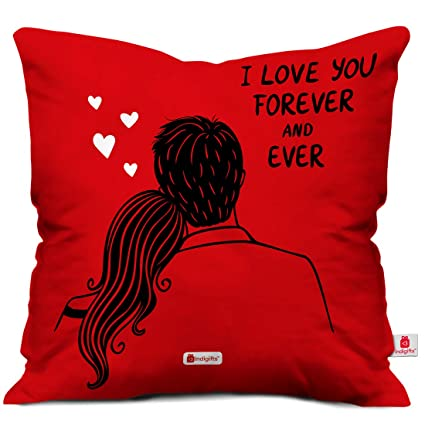 buy indigifts valentines cushion cover 12x12 with filler coffee