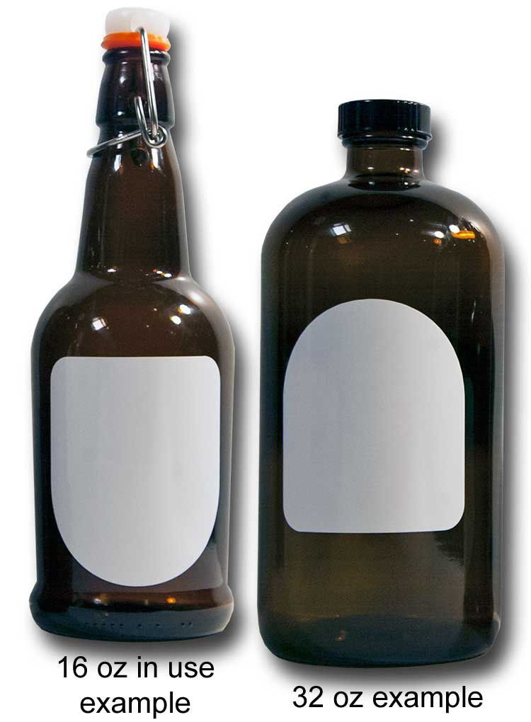 Cohas Matte White Labels for Beer Growler in Arch Shape includes Liquid Chalk Marker and 12 Labels, Fine Tip, Copper Marker by Cohas (Image #3)