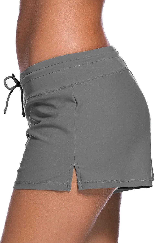 Showlovein Women Swimsuit Tankini Bottom Board Shorts