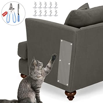 SourceTon - Juego de 2 Protectores de Muebles de Vinilo antiarañazos con cortauñas y Lima, para Evitar arañazos de Gatos ...