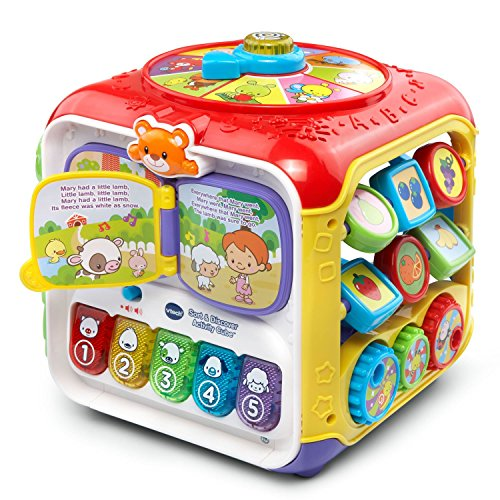 (VTech Sort and Discover Activity Cube, Red)