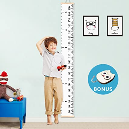 Amazon Baby Growth Chart Kids Height Chart Ruler Vagreez Roll