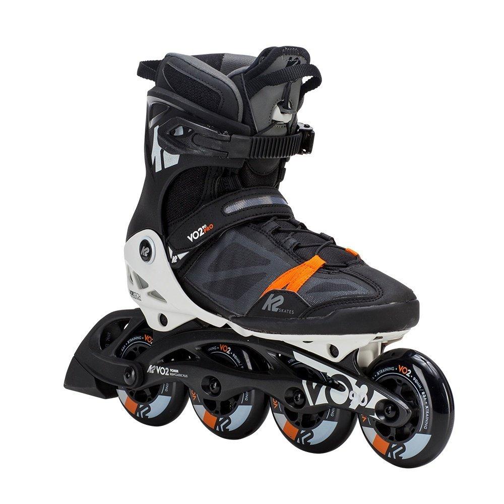 K2 Skate Men's Vo2 90 Pro Inline Skate, Black White Orange, 9