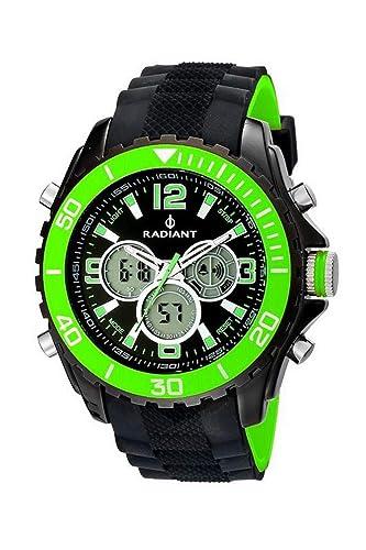 Radiant Reloj Analógico-Digital para Hombre de Cuarzo con Correa en Caucho RA174602: Amazon.es: Relojes
