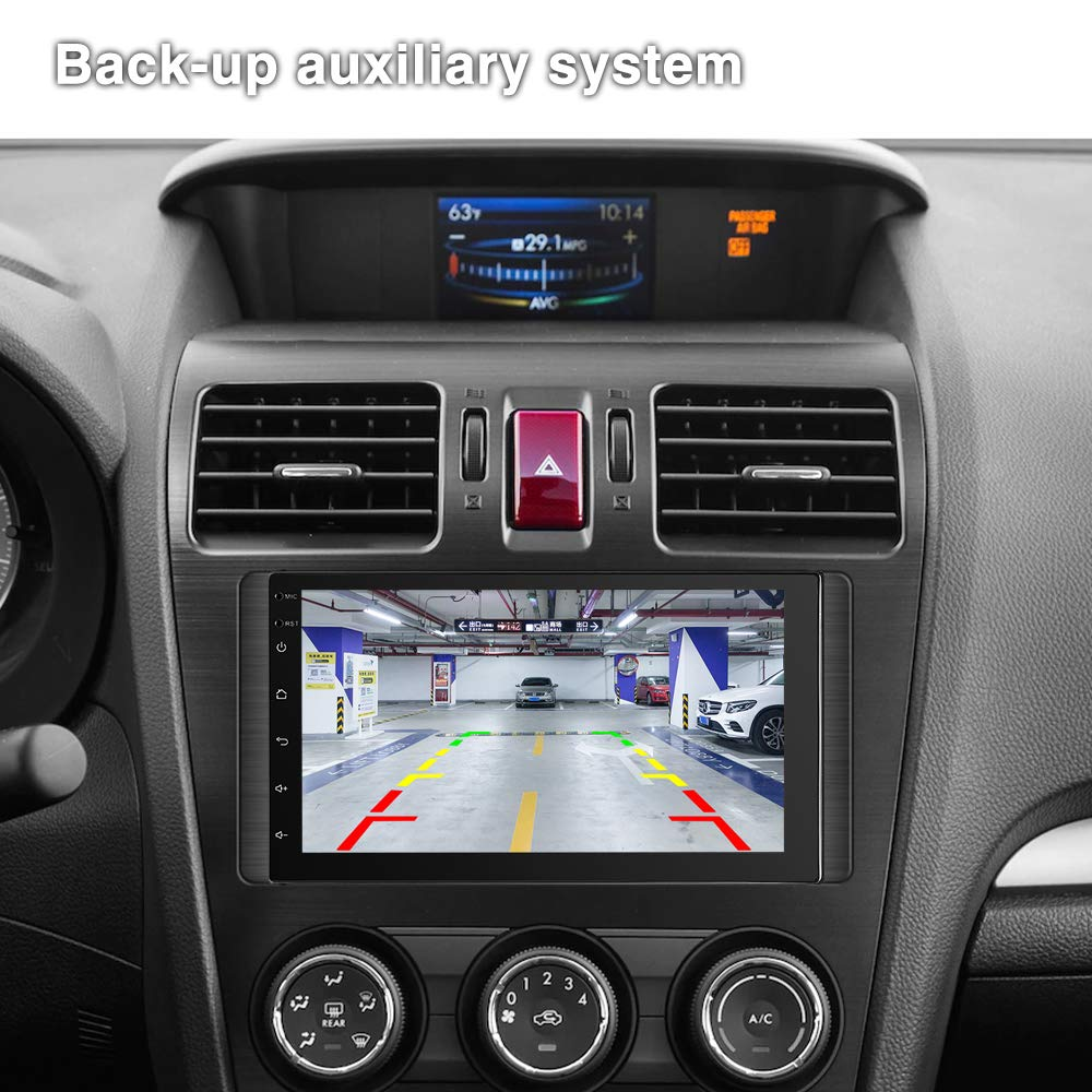 4G SIM Card 7 Android Car Radio 2GB 32GB FM//AM 2 Din Head Unit Touchscreen Indash Stereo WiFi GPS USB Backup Camera Car Stereo Bluetooth Double Din Car Stereo