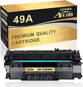 Arcon Compatible Toner Cartridge Replacement for HP 49A Q5949A 49X Q5949X 53A Q7553A HP Laserjet 1320 1320n P2015 P2015dn P2014 3390 1160 P2015d 1320tn M2727nf Toner Cartridge Ink (Black, 1-Pack)