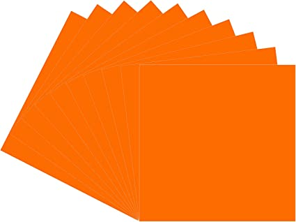 Amazon Com Orange Oracal 651 Vinyl 10 Pack 12 X 12 Glossy Orange Permanent Adhesive Backed Vinyl Sheets For Indoor Outdoor Lettering Marking Decorating Car Decals Window Graphics For Cricut Silhouette Arts Crafts Sewing