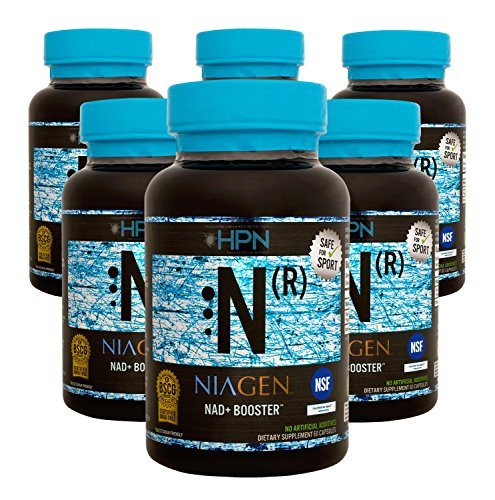 Niagen N(r) NAD Booster (Nicotinamide Riboside) by HPN (125 mg, 60 capsules) - 6 Pack