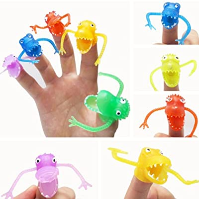TOYMYTOY 10Pcs Monster Finger Cool for Kids Great Party Favors Fun Toys Puppet Show: Home & Kitchen