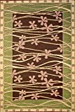 Mad Mats Tall Grass Indoor/Outdoor Floor Mat, 6 by 9-Feet, Brown and Pink