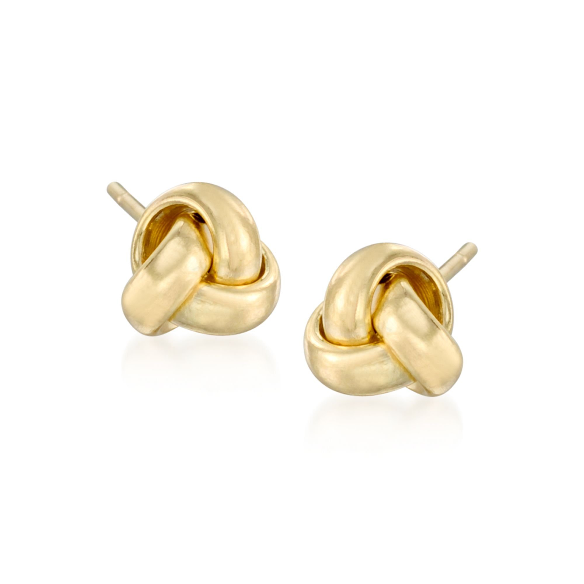 Ross-Simons 14kt Yellow Gold Love Knot Stud Earrings, Includes Jewelry Presentation Box