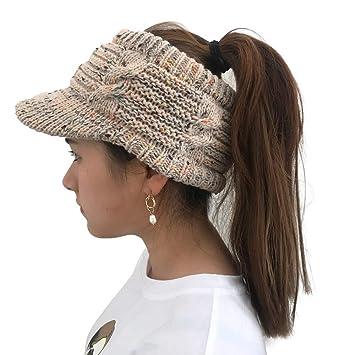 Cooljun Frauen Damen Winter Stricken Krebs Hut Mütze Turban Kopf