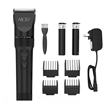 31a6acb9872 Amazon.com  Abody Hair Clipper Cordless Hair Trimmer Rechargeable Hair  Shaver Ceramic Titanium Blade for Mens and Babies with 2 Rechargeable  Batteries 4 ...