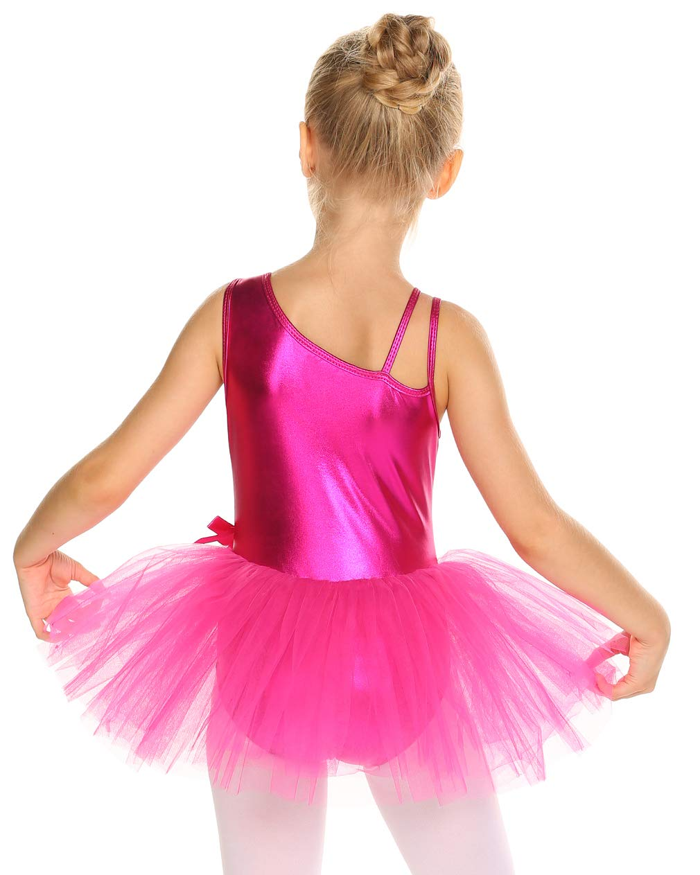 Arshiner Kids Girls Gymnastics Leotards One-Piece Dance Ballet Dress Wrap Skirted
