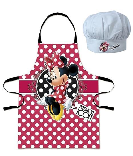Grembiule Cucina Minnie.Grembiule E Cappello Da Chef Cuoco Minnie Disney Bambino