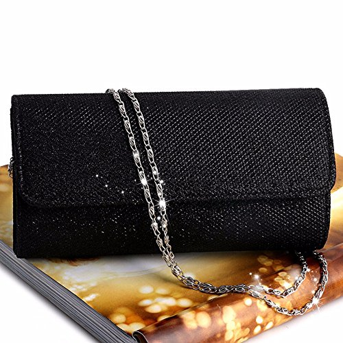 Bag Clutch Purse Bag Women Clutch DWE For Bag Glitter Party Handbag Evening Bridal Black Wedding axnnq5wPz