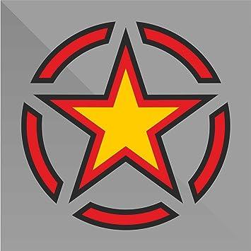 Decal Cars Motorcycles Helmet Wall Camper Bike Adesivo Adhesive Autocollant Pegatina Aufkleber Sticker Stella Militare Military Star Milit/är Sterne estrella de los militares /étoiles militaire cm 10
