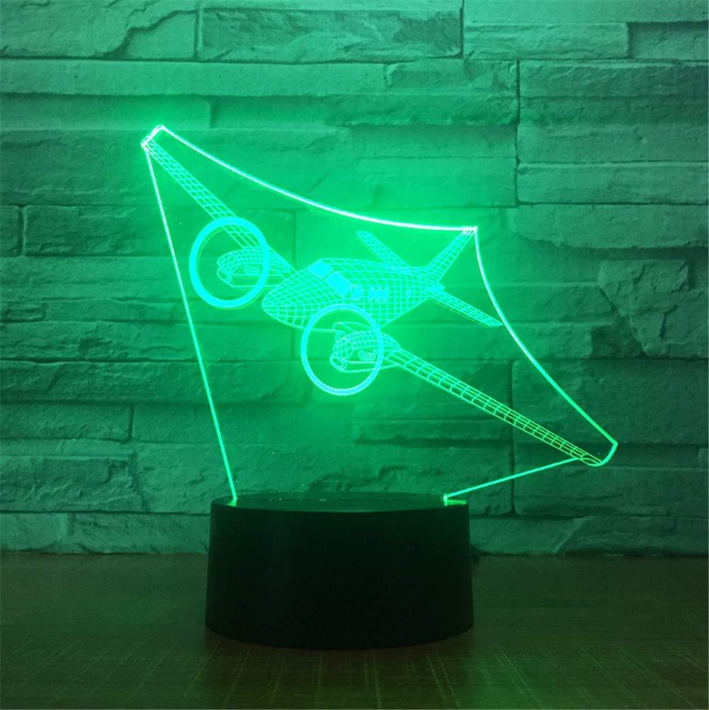 7 Luz Óptica Led Lámpara Ilusión Noche Color 3d l1TKcJ3F