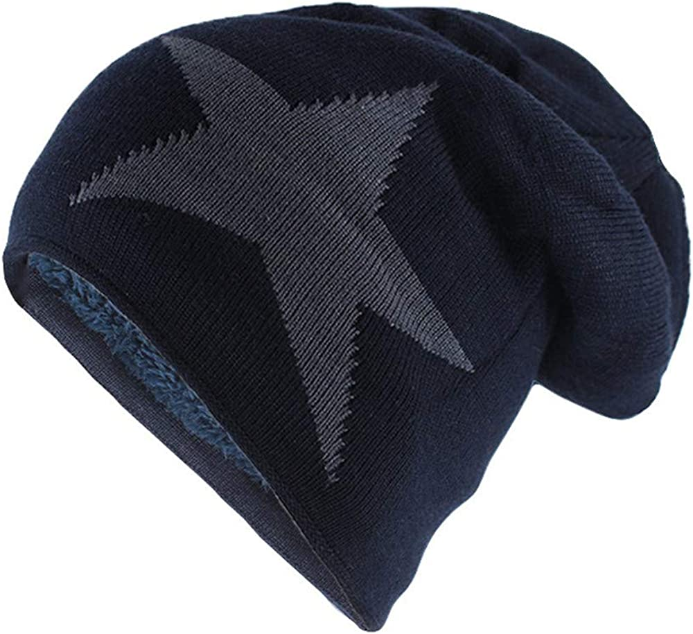 Big Star Winter Warm Hat for Men Women Knitted Wool Beanies Lady Colors Bonnet
