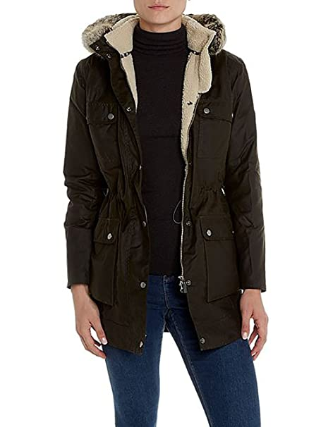 Barbour Parka Donna Carribema wax Jacket BACPS1551 col. Verde Oliva tg. 10  (42 424a8ec5bf98