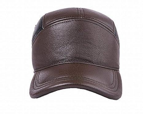 CWJ Cappello - Autunno E Inverno Davvero Pu Cappelli Da Uomo Cappello Caldo  Paraorecchie Cappello Da af9b4484e01c