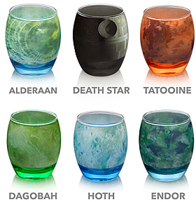 Star Wars Planetary Glassware Set | ThinkGeek