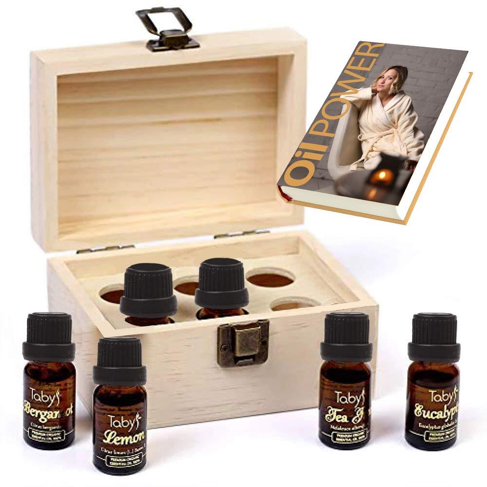 Essential Oils Set for Diffusers Top 6 - Lavender, Peppermint, Eucalyptus, Lemon, Bergamot, Tea Tree Aromatherapy Essential Oils Gift Set