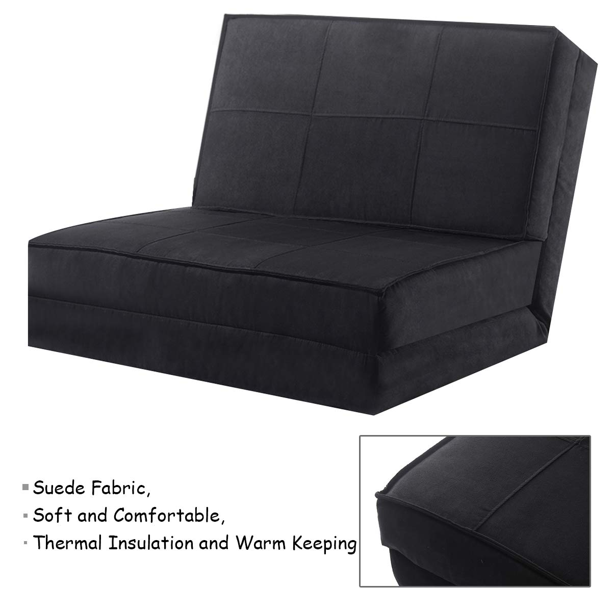 Giantex silla plegable Flip Out tumbona Convertible para ...
