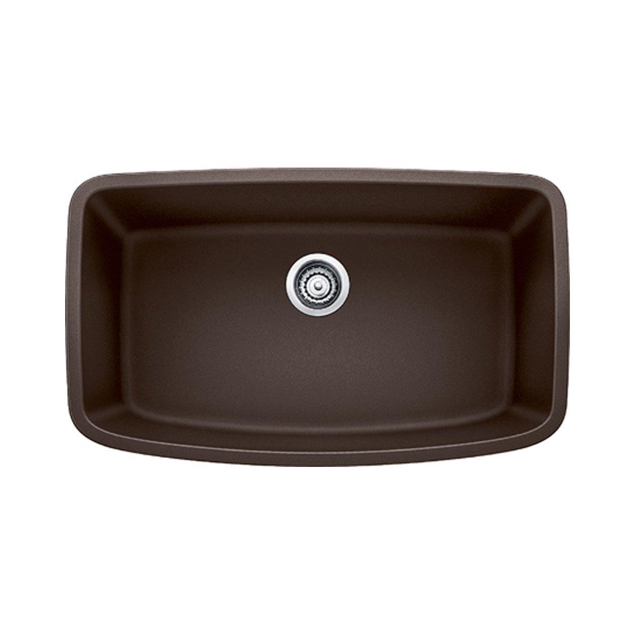 Blanco 441613 Valea Super Undermount Single Bowl Kitchen Sink, Large, Cafe Brown