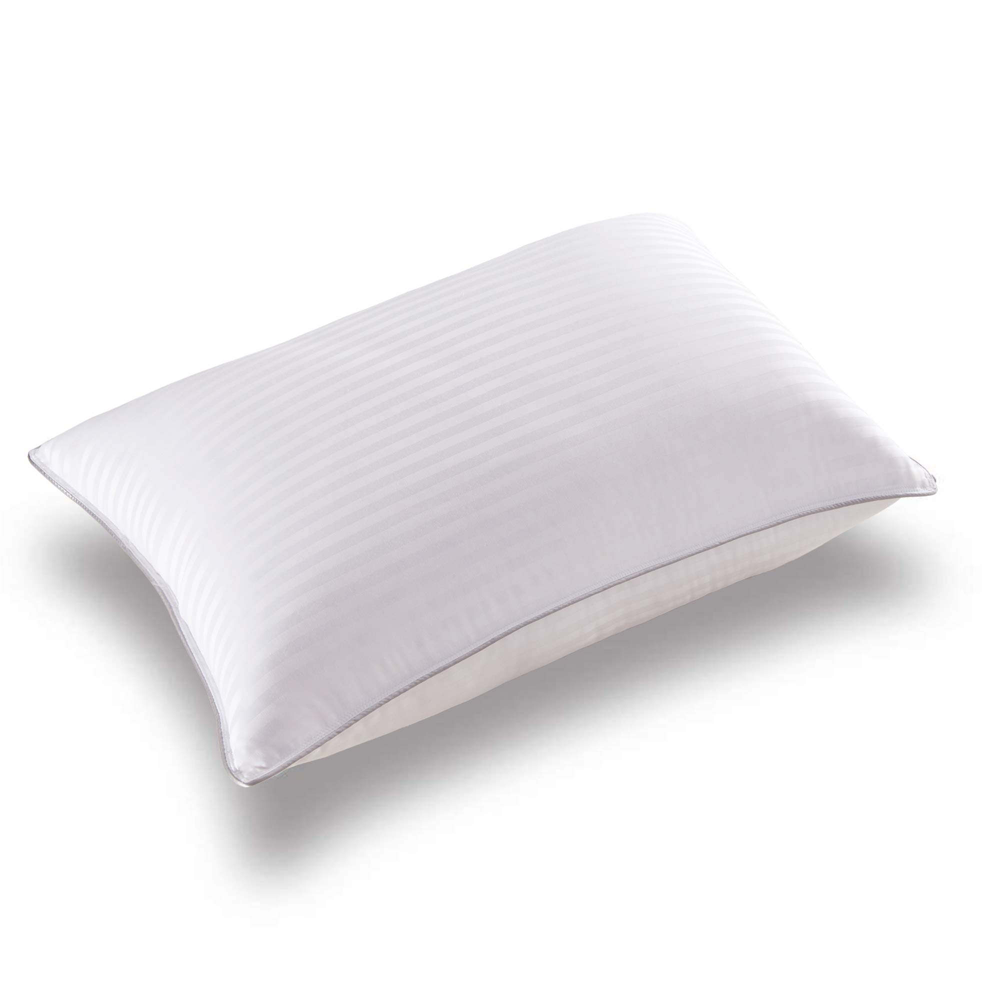 Basic Beyond Down Alternative Bed Pillow - Hotel Collection Super Soft Firm Pillow for Sleeping with Hypoallergenic Bamboo Materials Fill, Standard Size