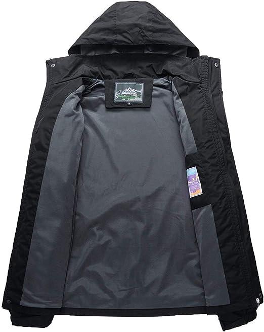 camping resistente al viento senderismo con capucha YSENTO Chaqueta impermeable para hombre ligera monta/ña