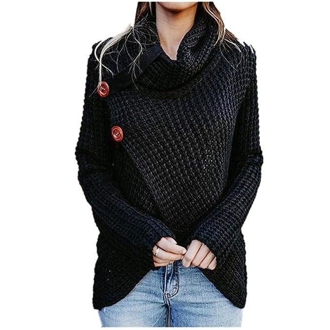 2e3bb6bfdb0f HaoKe Winter Women Knit Sweater Buttons Loose Cardigan Coat Warm ...
