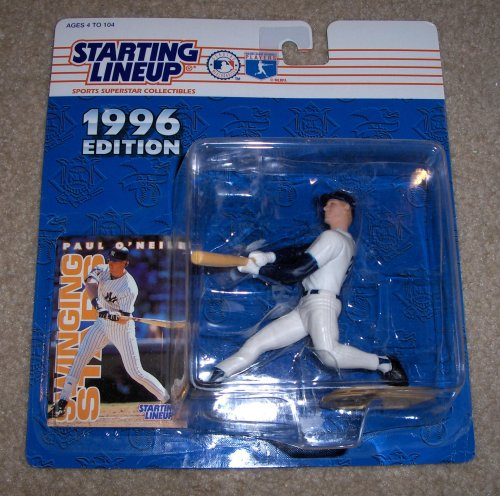 1996 Edition - Kenner - Starting Lineup - MLB - Paul O'Neill #21 - New York Yankees - Vintage Action Figure - w/ Trading Card - Rare - Limited Edition - Collectible