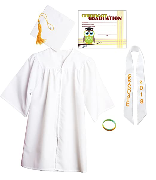 Amazon.com: Jostens Graduation Cap And Gown Package Medium White ...