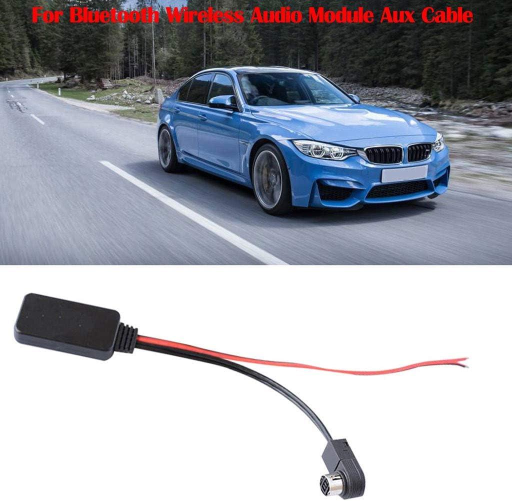 AutumnFall Rugged Durable Wireless Audio Module Aux Cable for Alpine KCA-121B AI-NET Phone Black